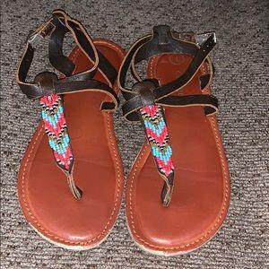 Girls beaded sandals